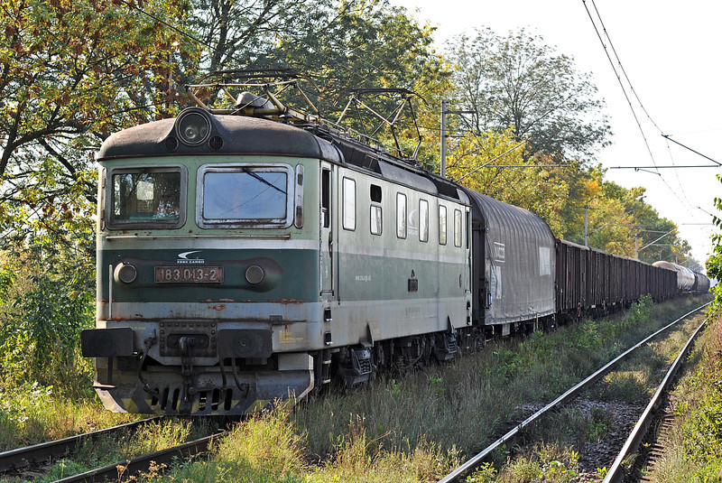 ZS Cargo 183-013 approaches Cierna nad Tisou zastava on 26 September 2011