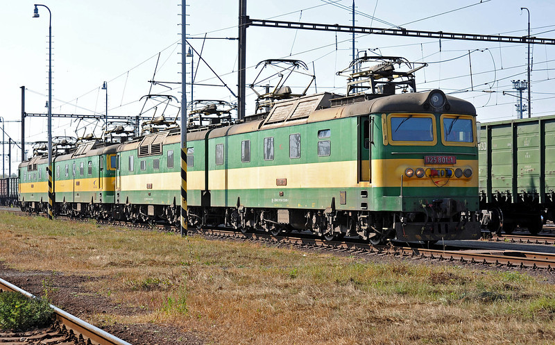 Ready for work at Haniska pri Kosiciach on 27 September 2011 were ZS Cargo 125-812/811 and 125-802/801