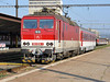 Shunting moves at Kosice on 27 September 2011 with ZS 163-058