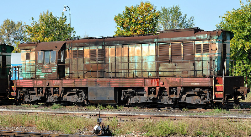 ZS 770-801 basks in the sun at Cierna nad Tisou depot on 26 September 2011