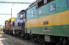 ZS Cargo 125-839, 773-804 and US Steel 770-511 are lined up at Haniska pri Kosiciach on 27 September 2011