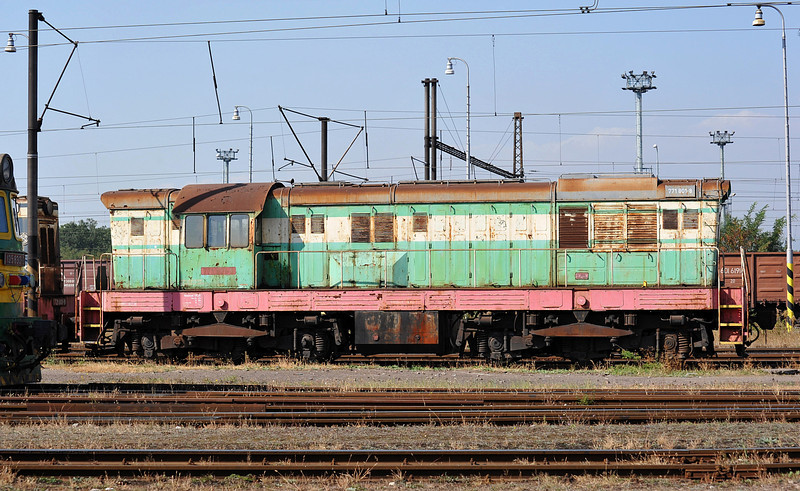 At the head of a line of withdrawn locos at Haniska pri Kosiciach on 27 September 2011 was 771-801