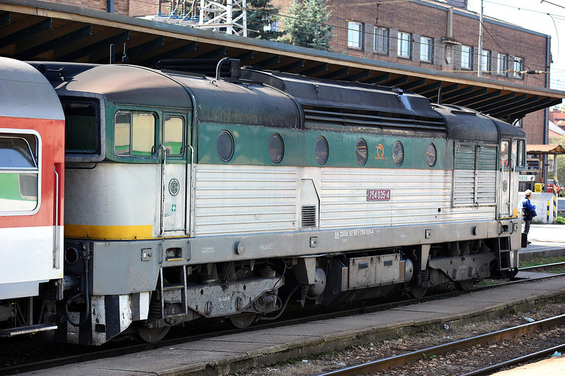 Not actually the far east - 754-035 is at Zilina as I passed through on a train to Ostrava on 28 September 2011