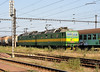 ZS Cargo 131-083/084 arrives on the freight tracks adjacent to the station at Kosice on 27 September 2011