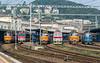 ZS  240-080 + 350-019 + 240-037 + 361-107 + 240-076 + CD Cargo 230-088<br /> Bratislava Hlavni Stanica 4 September 2014