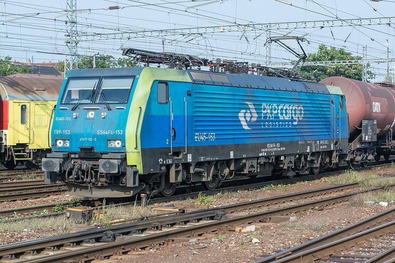 PKP Cargo ES64 F4-153 Bratislava Hlavni Stanica 3 September 2014