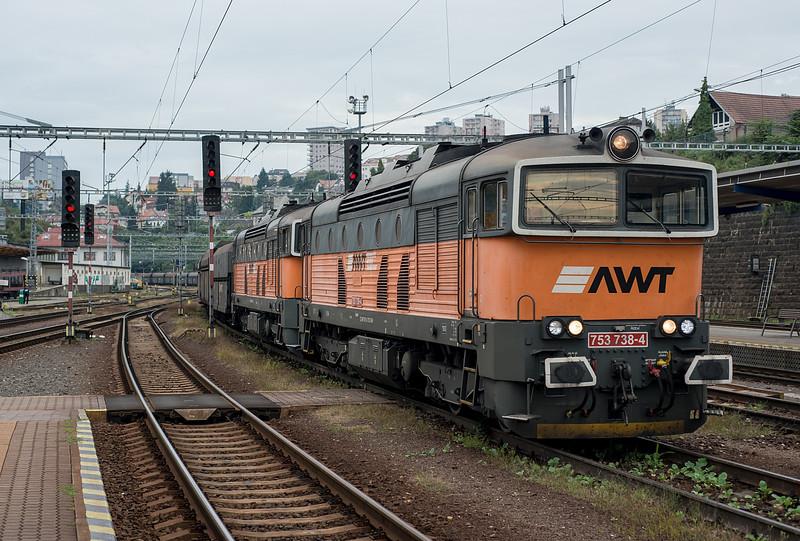 AWT 753-738 + 753-739 Bratislava Hlavni Stanica 30 August 2014