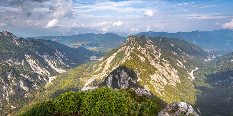 On the summit of Slemenova Špica, looking out to Italy and Austria
