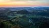 Morning on Plače hill, view from Razgledni stolp Plač