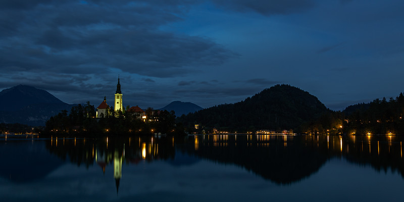 Lake Bled by Night