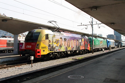 OBB, 1216 141 (91 81 1216 141-2 A-OBB) at Ljubljana on 22nd April 2015 (2)