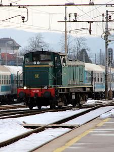 642 301 at Ljubljana on 25th January 2013