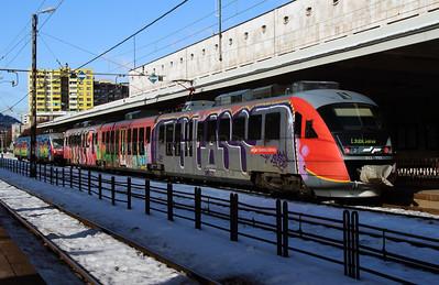 312 111 at Jesenice on 25th January 2013 working LP2407 1105 Jesenice to Ljubljana