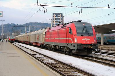 541 103 (E190 103 or 91 79 1541 103-2) at Ljubljana on 25th January 2013