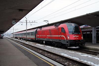 541 022 at Ljubljana on 26th January 2013