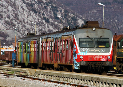 2) 813 101 at Nova Gorica on 25th January 2013 working LP4212 1352 Prvacina to Jesenice