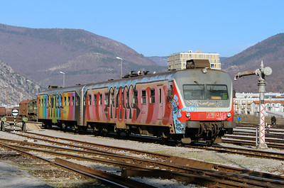 1) 813 101 at Nova Gorica on 25th January 2013 working LP4212 1352 Prvacina to Jesenice