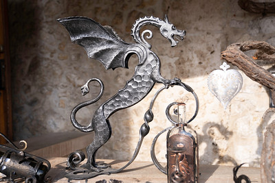 Iron work has long been a Slovenia specialty and the dragon is a common theme