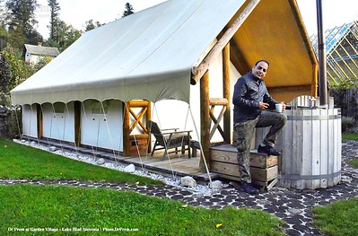 Dr Prem Jagyasi - Tent stay at Garden Village Lake Bled.