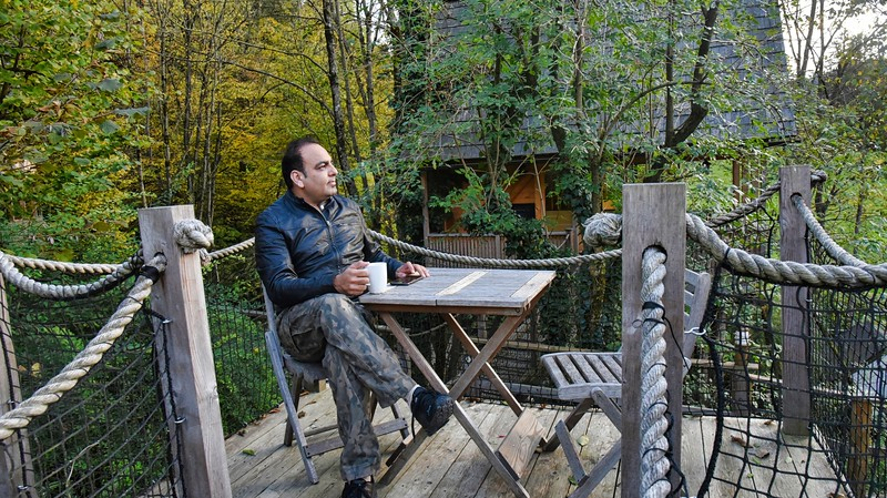 Dr Prem Jagyasi - Enjoying his stay at  Garden Village Lake Bled Slovenia