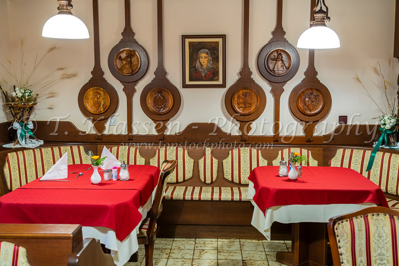Interior of the Alp Pension B&B in Bled, Slovenia, Europe.