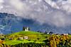 A hilltop church, the Saint Thomas Church above Praprotno village, Slovenia, Europe.
