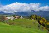 A farm in the hills near Praprotno, Slovenia, Europe.