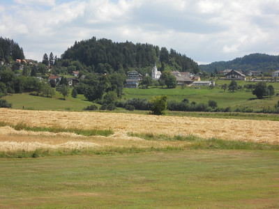 A view of one of the villages near Rosegg in Austria.