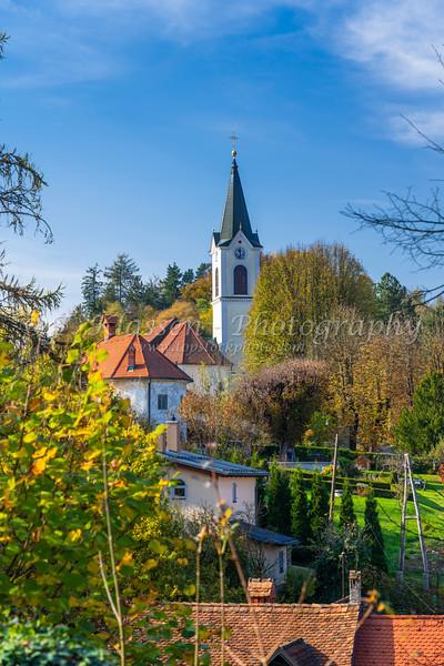 The St. Joseph Church in Kamnik, Slovenia, Europe.