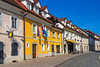 A pedestrian street in Kamnik, Slovenia, Europe.