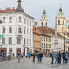 Busy Streets of Ljubljana