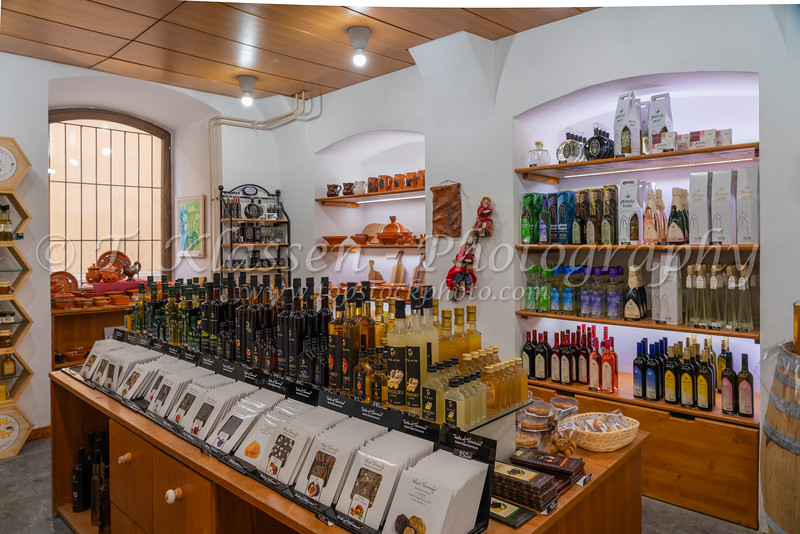 Interior of a souvenir shop in Ljubljana, Slovenia, Europe.