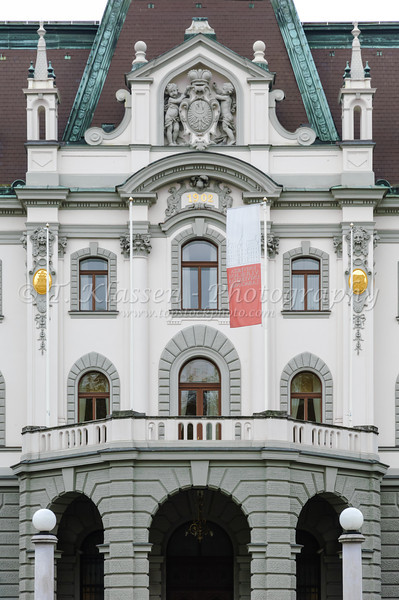Architecture in Ljubljana, Slovenia.