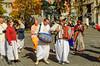 Ethnic street musicians in Ljubljana, Slovenia.