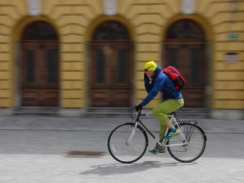 Cyclist, Ljubljana, Slovenia