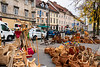 The outdoor market in Ljubljana, Slovenia, Europe.