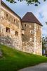 Ljubljana Castle on Castle Hill in Ljubljana, Slovenia, Europe.
