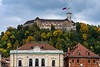 Ljubljana Castle a landmark on Castle Hill in the center of Ljuljana, Slovenia, Europe.