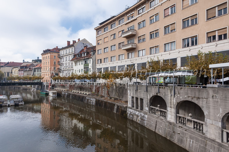 Ljubljana, Slovenia canals and bridges.