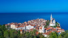 A view of the medieval city of Piran, Slovenia, Europe.