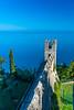 The high city walls of Piran, Slovenia, Europe,