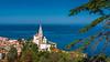 The St. George's Parish Church in Piran, Slovenia, Europe.
