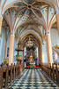 Interior of the St. Peter's church in Radovljica, Slovenia, Europe.