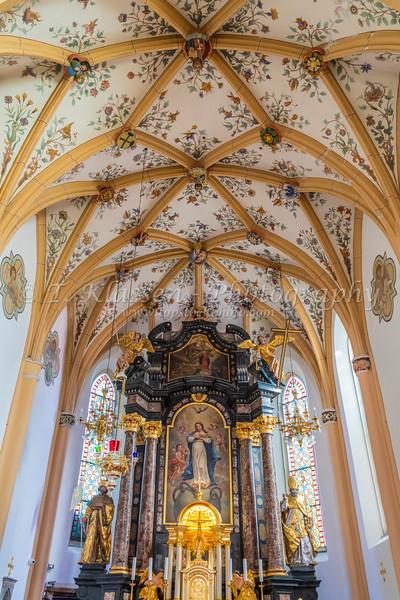 Interior of the St. Peter's church in Radovljica, Slovenia, Europe.
