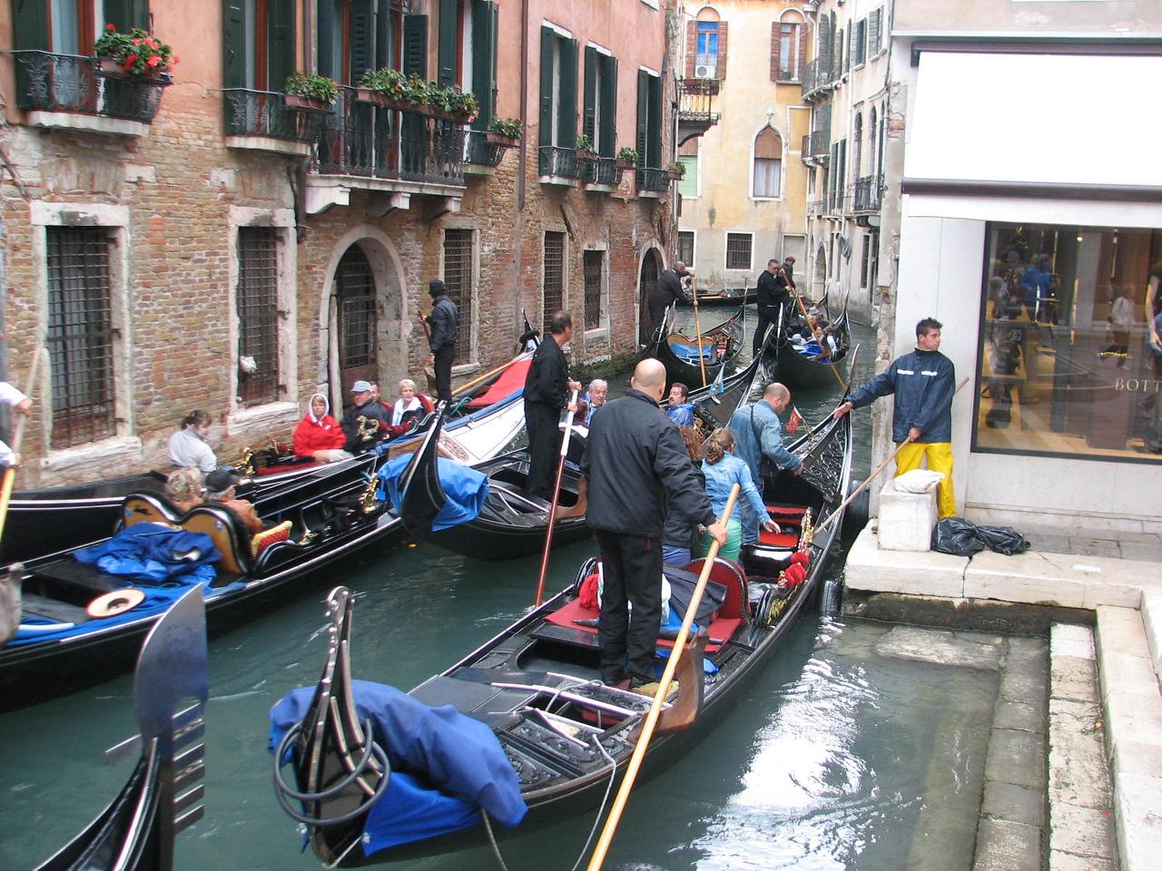 Traffic jam, Venetian style