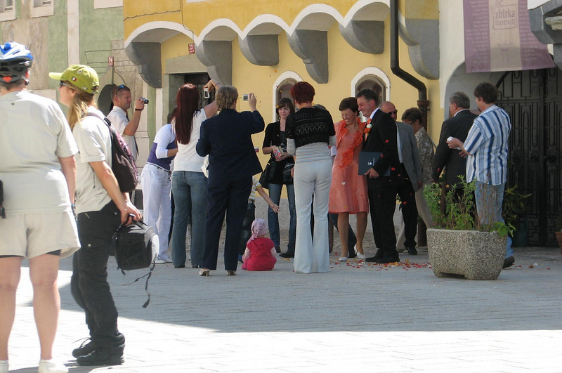 A wedding in Radovljia