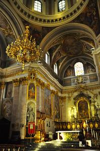 inside the cathedral in Ljubljana