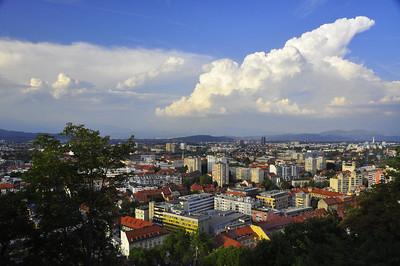 Ljubljana skyline