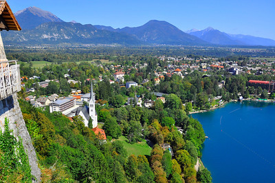 Lake Bled as seen from the Castle   Slovenia