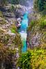 Soca Gorge in Triglav National Park, Slovenia, Europe.